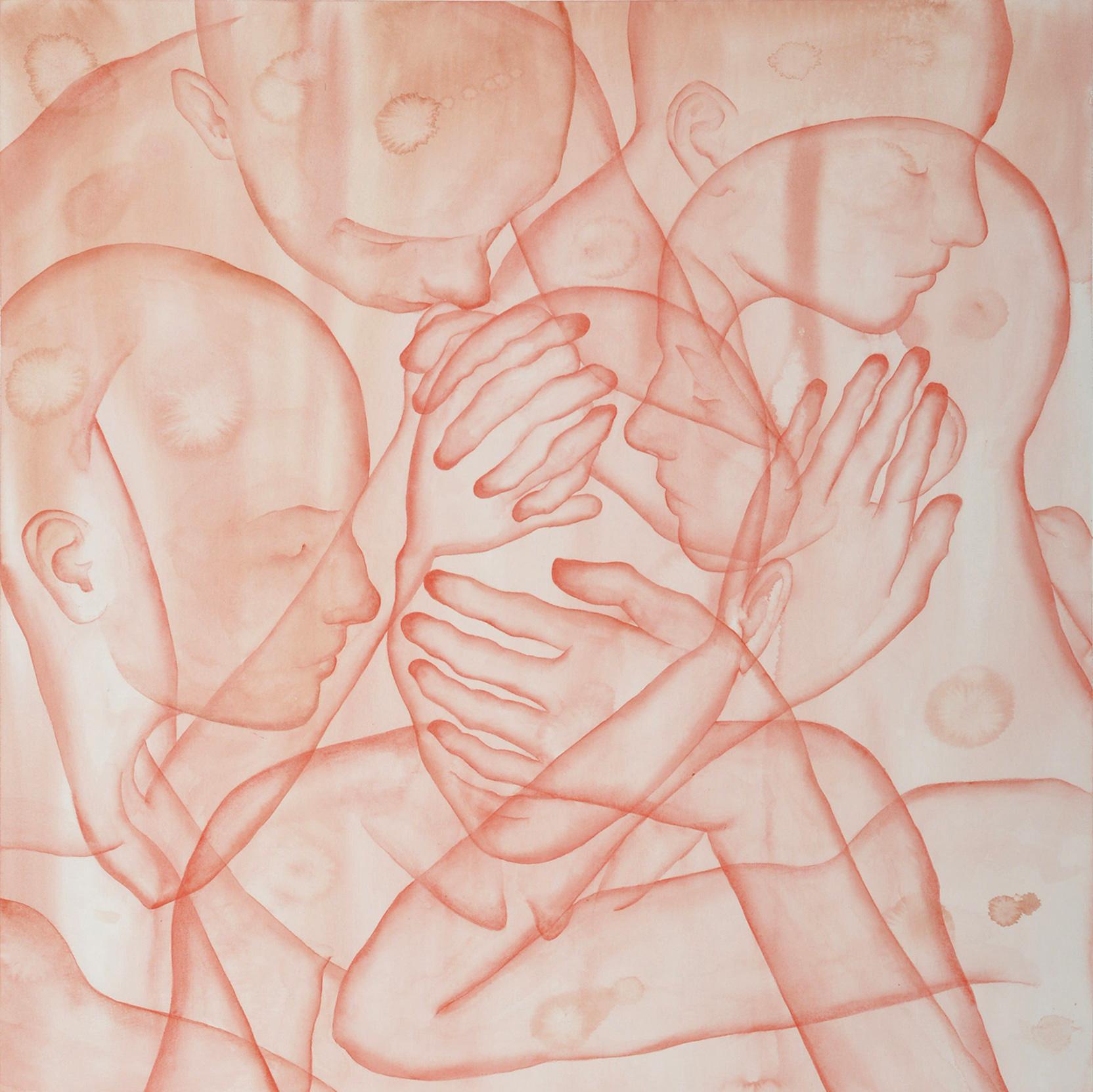 Stefano Bolzano, Sensi, Sentimenti, Coscienza, acquerello su carta, 55x75 cm, 2020.