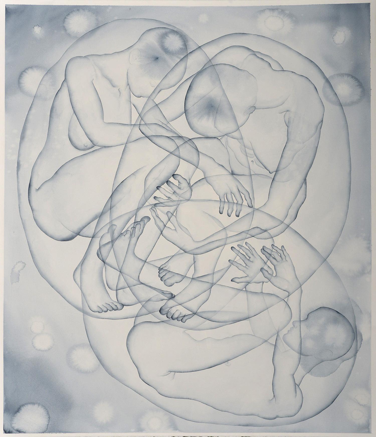 Stefano Bolzano, S.T., acquerello su carta, 95x111 cm, 2020.