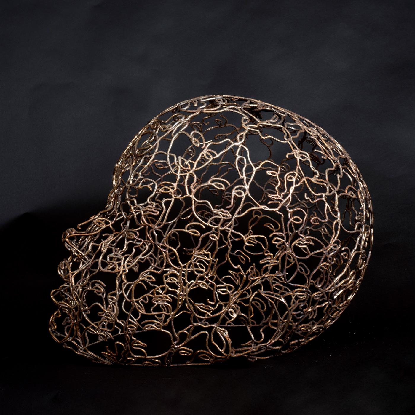 Bonzanos A.G., Testa, fusione in bronzo, 60x60x50 cm, 2018. Collezione privata.