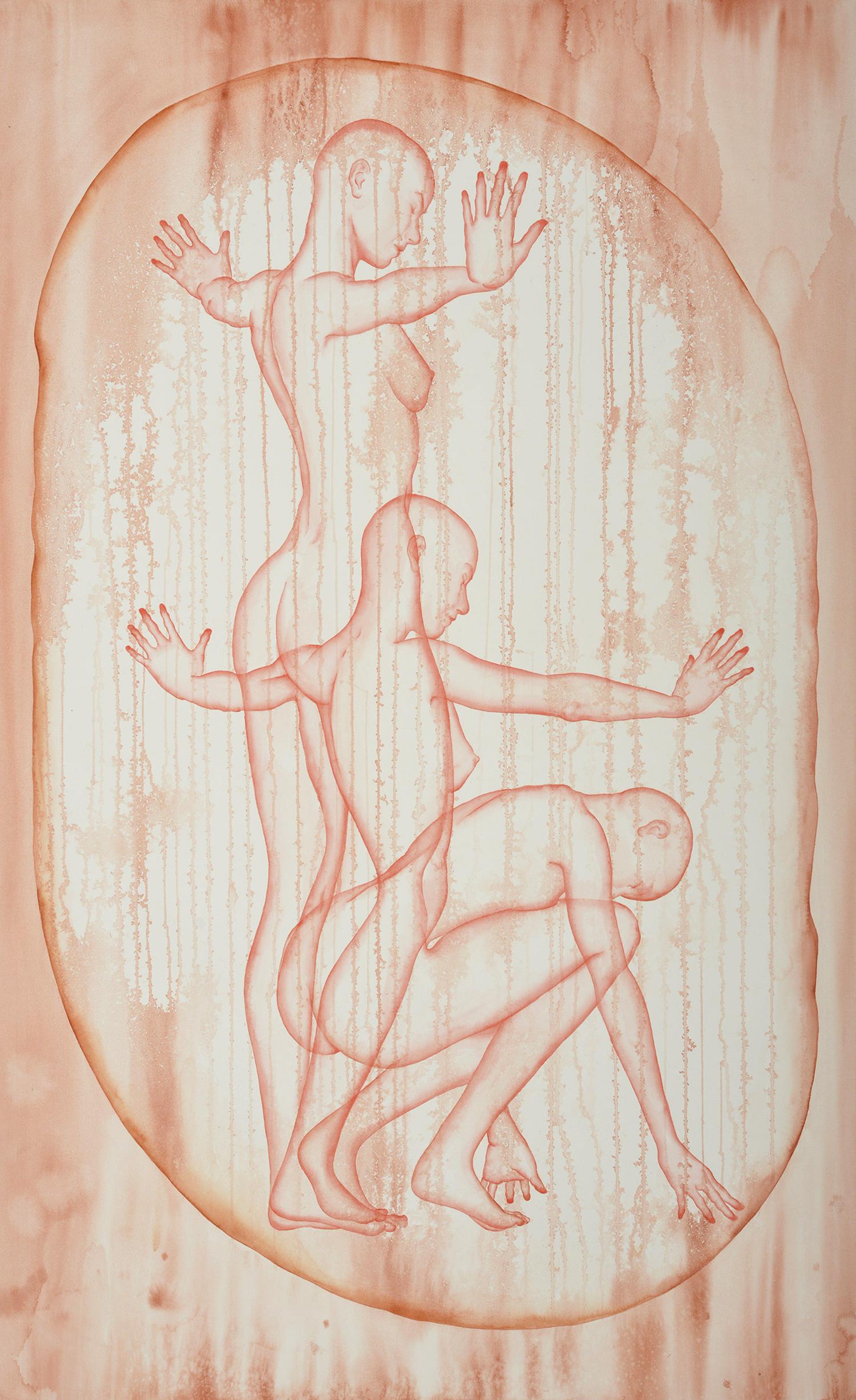 Stefano Bolzano, Aura sentimentale, watercolor on paper, 90x145 cm, 2020.