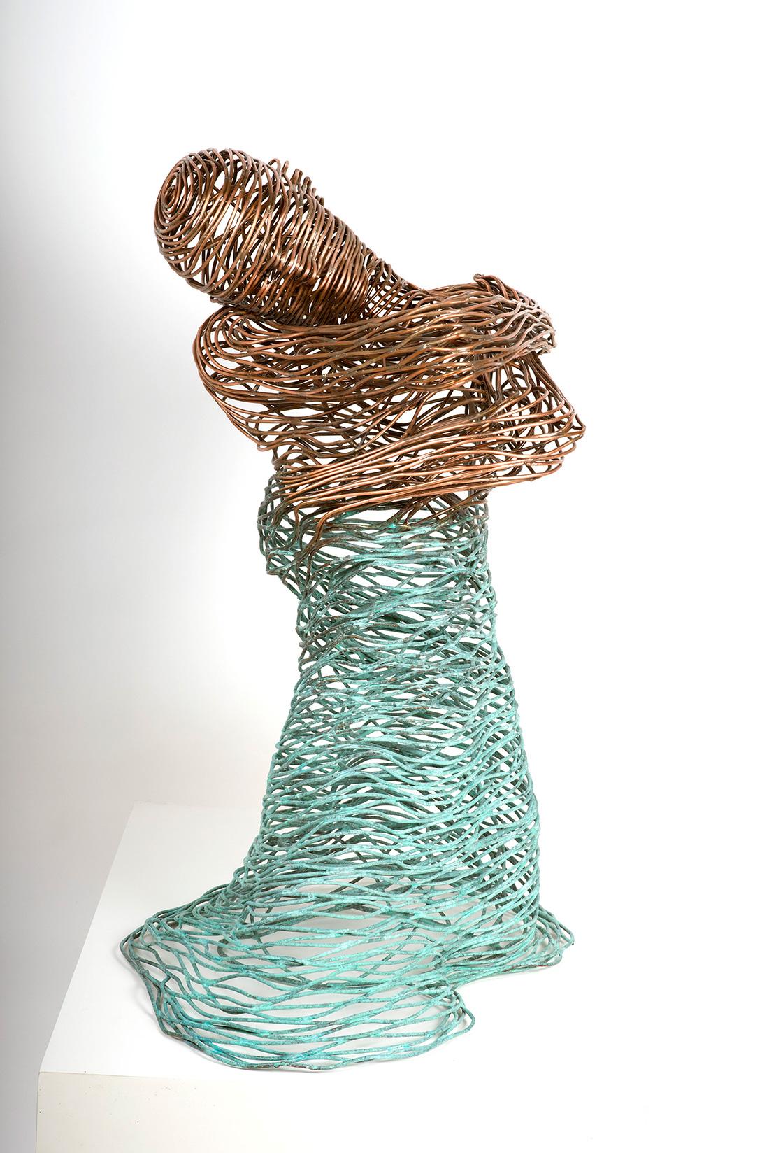 Bonzano Stefano, Acqua, Scultura in tubolare di rame saldato a mano, 90x65x45 cm, 2015. Collezione privata.