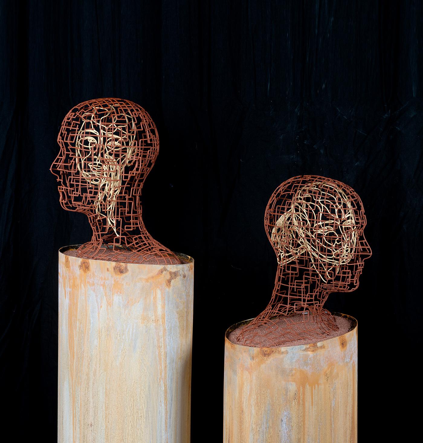 Bonzanos A.G., Ascoltami, Parlami, Scultura in filo SLS Duraform, realizzata con stampante 3D, 145x48,5x25,5 cm, 2017.