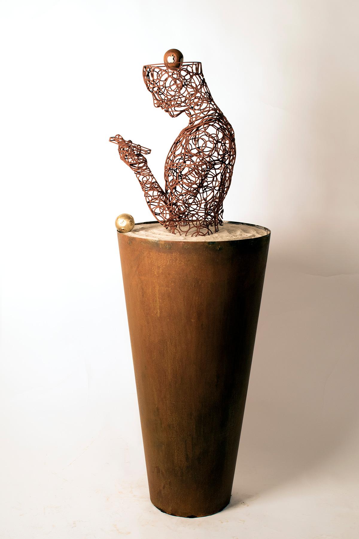 Bonzanos A.G., Eva calling, Scultura in filo SLS Duraform, realizzata con stampante 3D, 167x55x55 cm, 2018. Collezione privata.