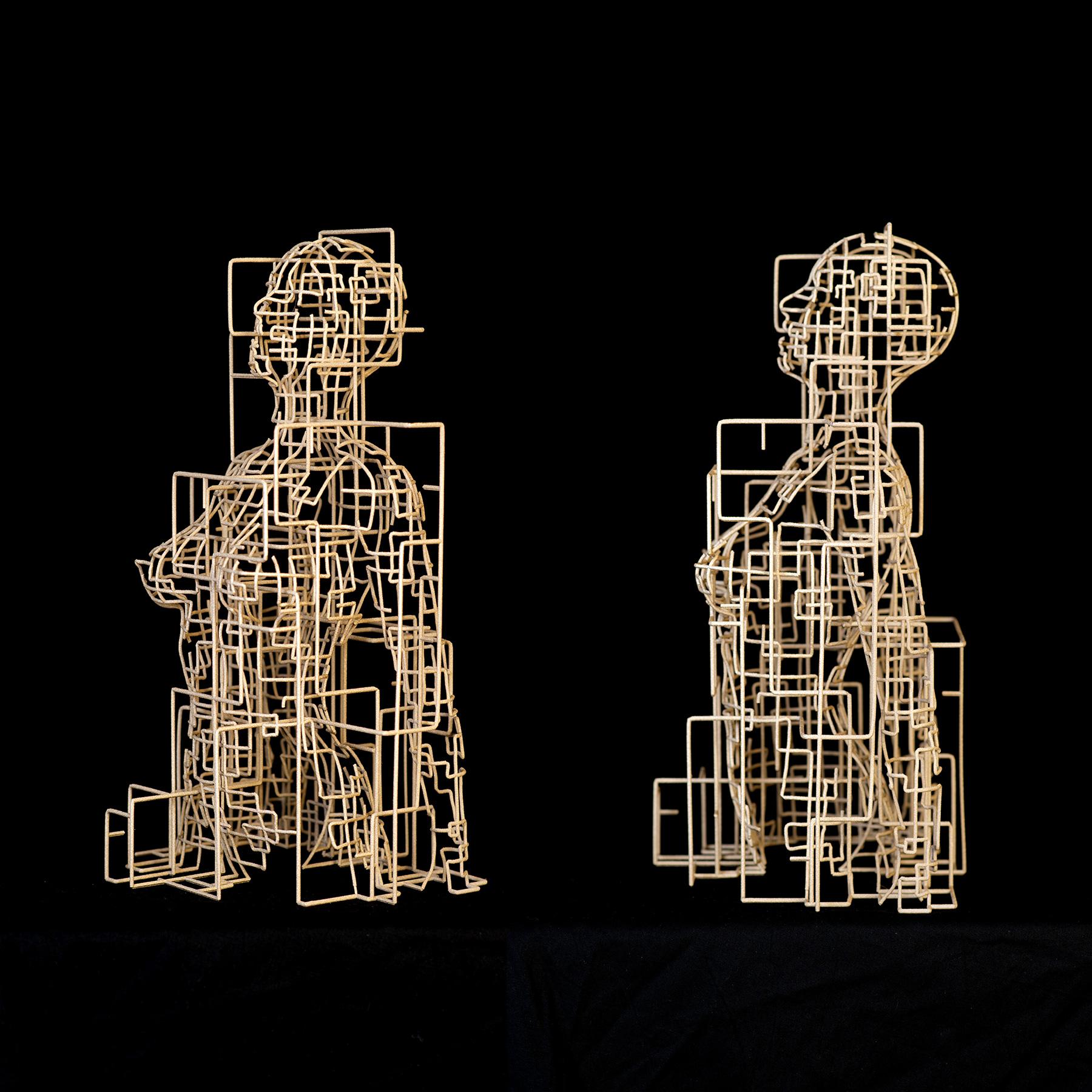 Bonzanos A.G., Metropolis, Scultura in filo SLS Duraform, realizzata con stampante 3D, 40x23x18,5 cm, 2017.