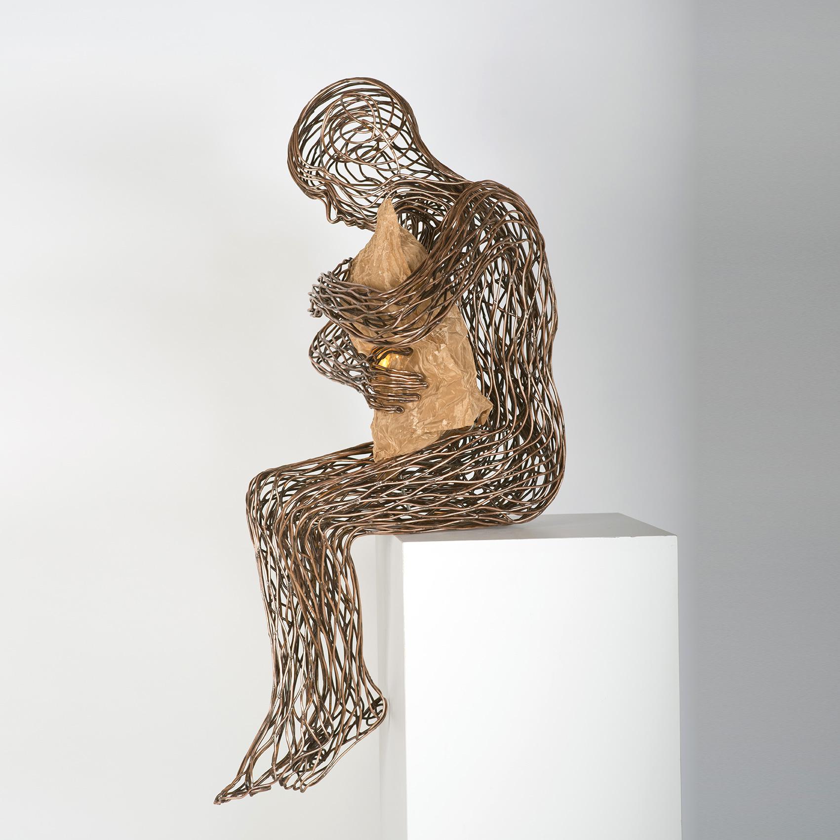 Bonzano Stefano, Notte, Scultura in tubolare di rame saldato a mano, 185x42x40 cm, 2015. Collezione privata.