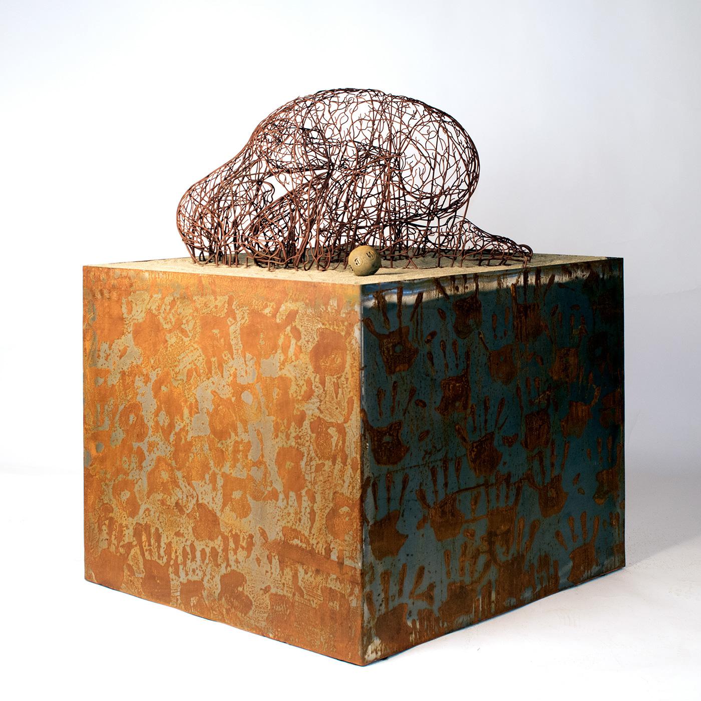Bonzanos A.G., Once Human, Scultura in filo SLS Duraform, realizzata con stampante 3D, 167x50x40 cm, 2018.