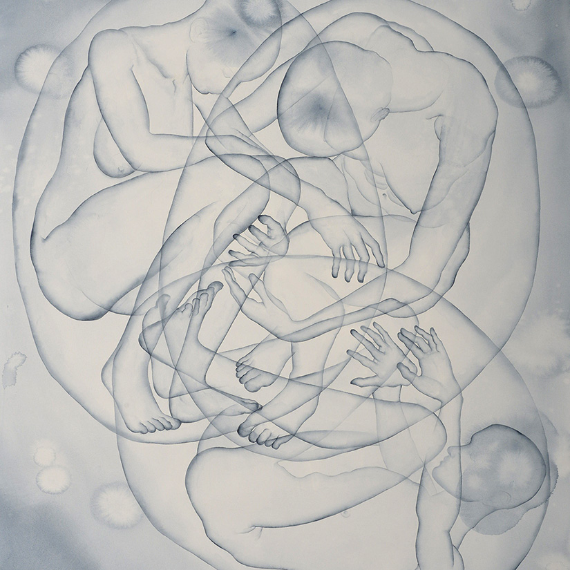 Stefano Bolzano, S.T., watercolor on paper, 95x111 cm, 2020.
