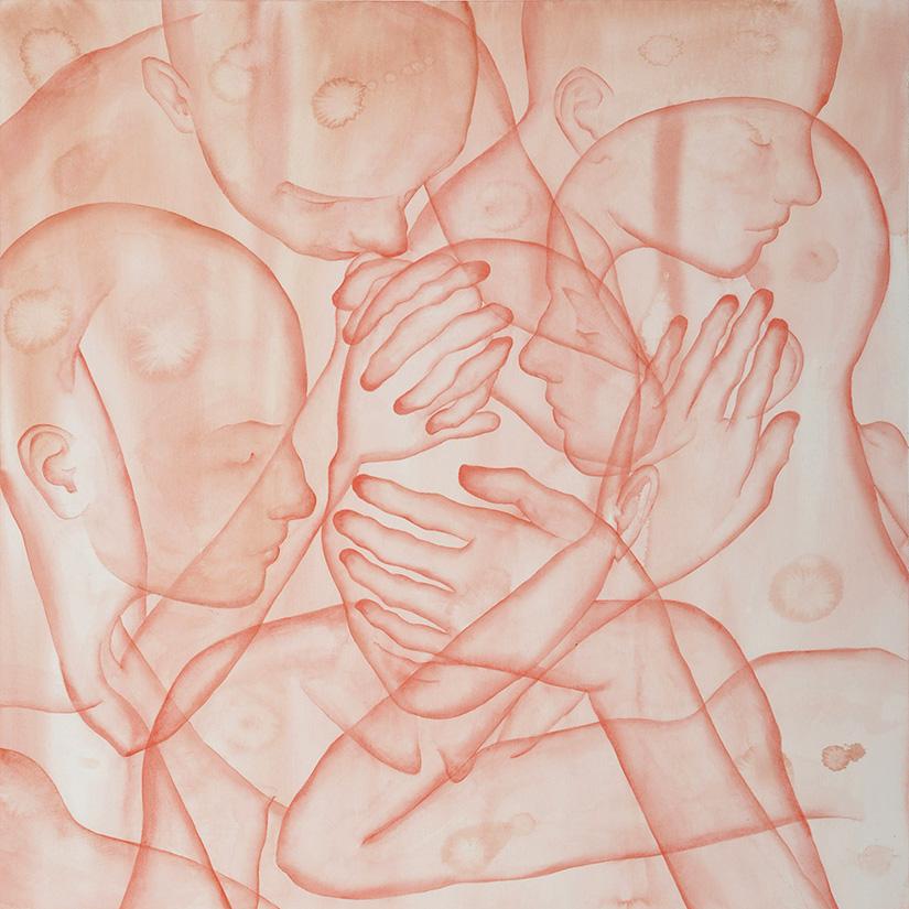 Stefano Bolzano, Sensi, Sentimenti, Coscienza, watercolor on paper, 55x75 cm, 2020.