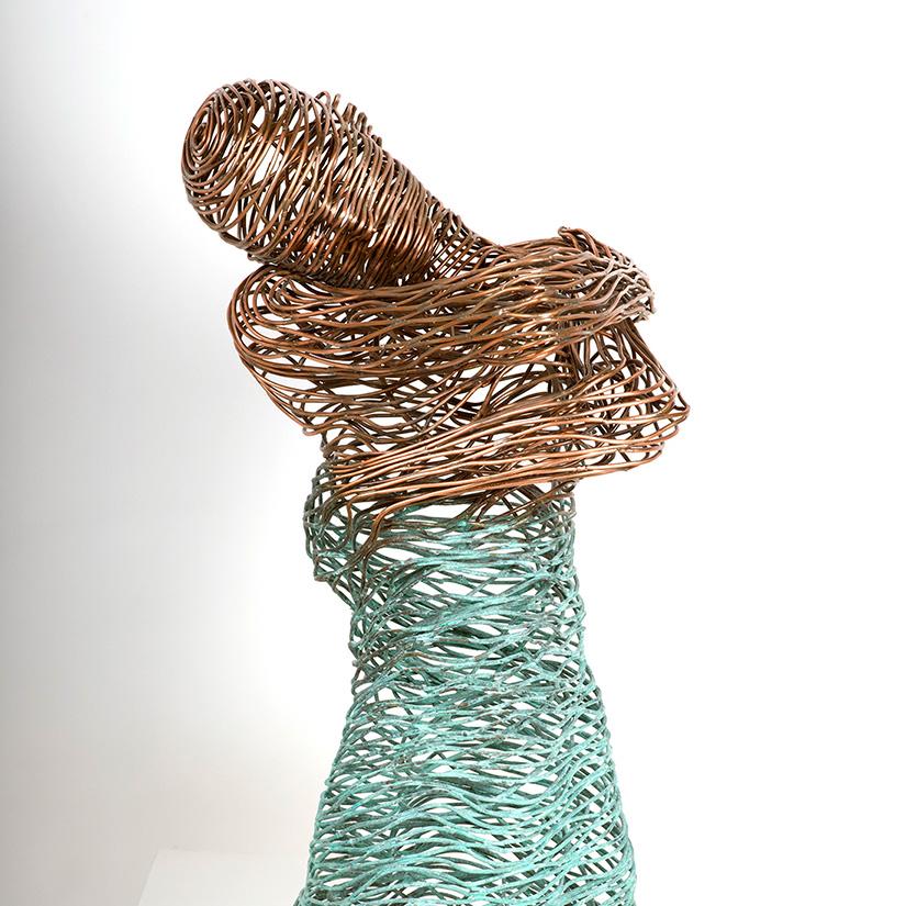 Bonzano Stefano, Acqua, Hand-welded copper tubular sculpture, 90x65x45 cm, 2015. Private collection.