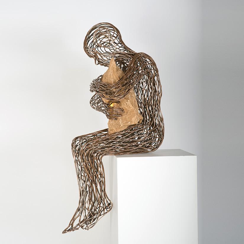 Bonzano Stefano, Notte, Hand-welded copper tubular sculpture, 185x42x40 cm, 2015. Private collection.