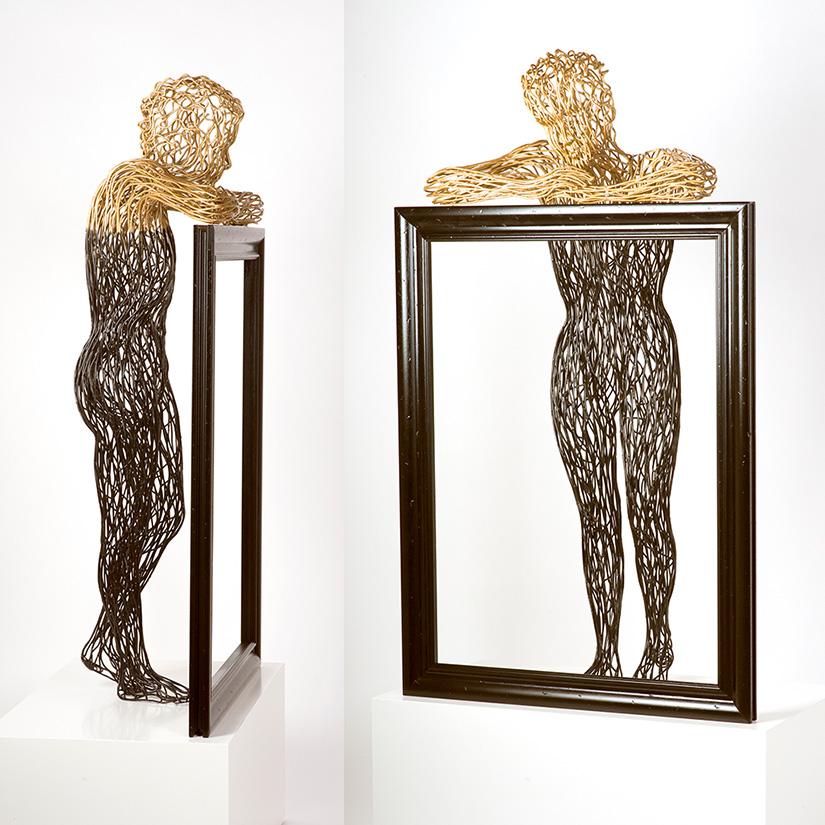 Bonzano Stefano, Dopo la notte, il giorno, Hand-welded copper tubular sculpture, 185x85x30 cm, 2016. Private collection.