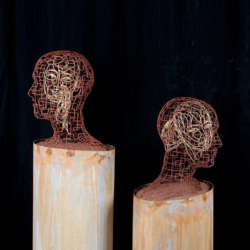 Bonzanos A.G., Ascoltami, Parlami, Duraform SLS wire sculpture, made with 3D printer, 145x48.5x25.5 cm, 2017.