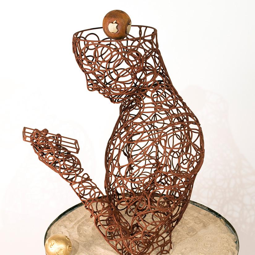 Bonzanos A.G., Testa, bronze casting, 60x60x50 cm, 2018. Private collection.